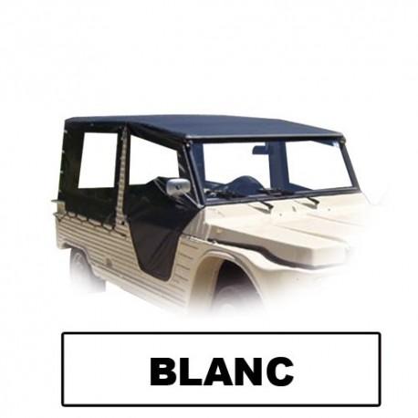 Jeu complet toile PVC 6 pièces Blanc + élastiques et couvre roue de secours pub mehari mehari 4x4