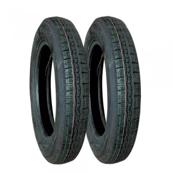 LOT DE 2 PNEUS 125x15 PROFIL MICHELIN