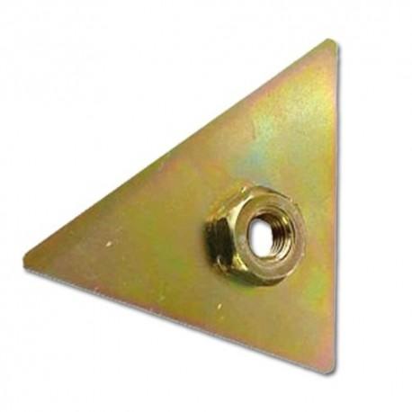 Plaque filétée de fixation du retroviseur D 2cv 2cv 6 2cv fourgonnette