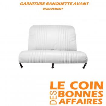 GARNITURE DE BANQUETTE AV 2CV SKAI BLANC