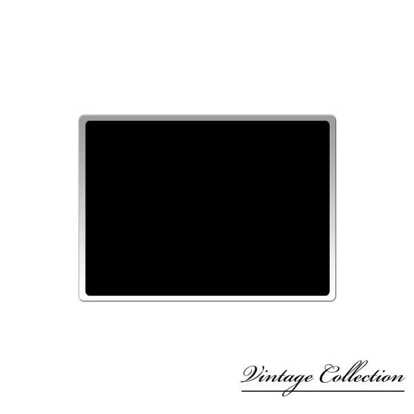 plaque immatriculation rectangulaire noire tour argente avec trait. Black Bedroom Furniture Sets. Home Design Ideas