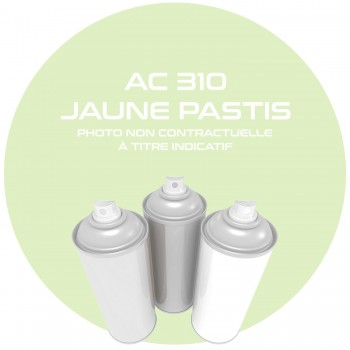 AEROSOL JAUNE PASTIS AC 310 ANNEE 64.65.66.67.68 400 ML