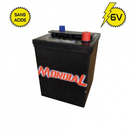 BATTERIE 6 VOLTS  73AH. SANS ACIDE VENTE POUR L'EXPEDITION