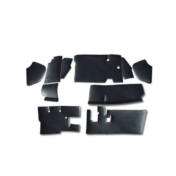 Kit 8 insonnorisants 1er prix (skaî cousu sur mousse entoilée de 4mm d'épaisseur aucune norme anti feu) 2cv 6 2cv fourgonnette