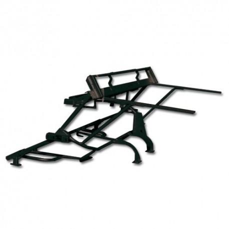 Chassis tubulaire AV. ( peinture noire polyester ). mehari